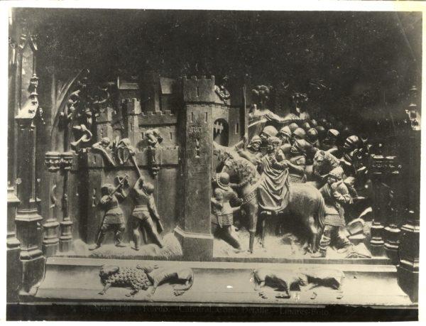 272 - Sillería baja del Coro - Escena del ataque y ocupación de Gor