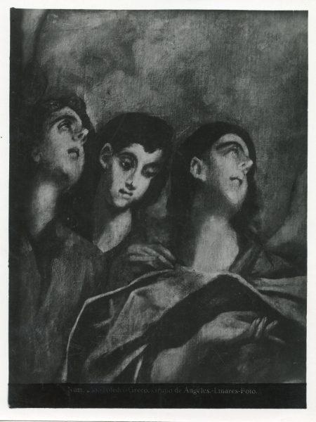 394 - Toledo - Greco - Grupo de Ángeles [Estudio de tres cabezas de ángeles]