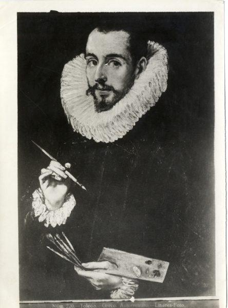 416 - Toledo - Greco - Autorretrato [Retrato de Jorge Manuel Theotocópuli, Museo de Bellas Artes de Sevilla]