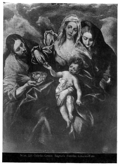 421 - Toledo - Greco - Sagrada Familia [La Sagrada Familia con María Magdalena, Museum of Art Cleveland]
