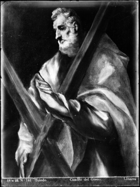 424 - Toledo - Cuadro del Greco [San Andrés, Museo del Greco]