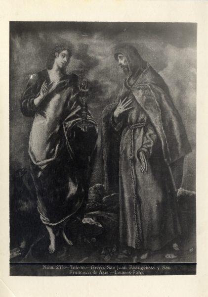436 - Toledo - Greco - San Juan Evangelista y San Francisco de Asís