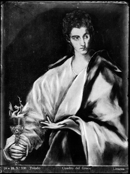 439 - Toledo - Cuadro del Greco [San Juan Evangelista]