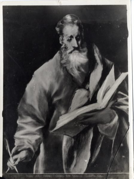 443 - Toledo - Greco - Un Apóstol [San Mateo, Museo del Greco]