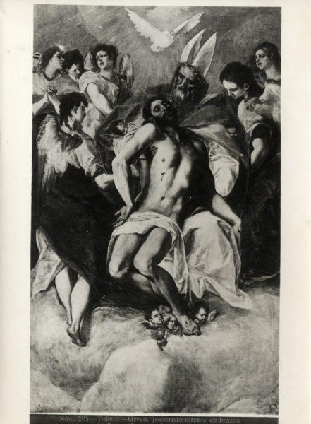 455 - Toledo - Greco - Jesucristo difunto en brazos [La Trinidad, Museo del Prado]