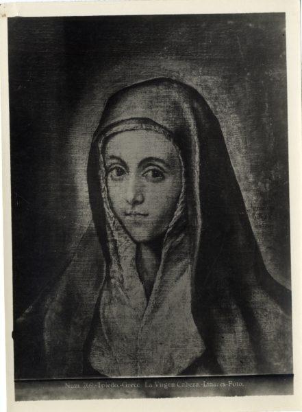 458 - Toledo - Greco - La Virgen - Cabeza [La Virgen María]