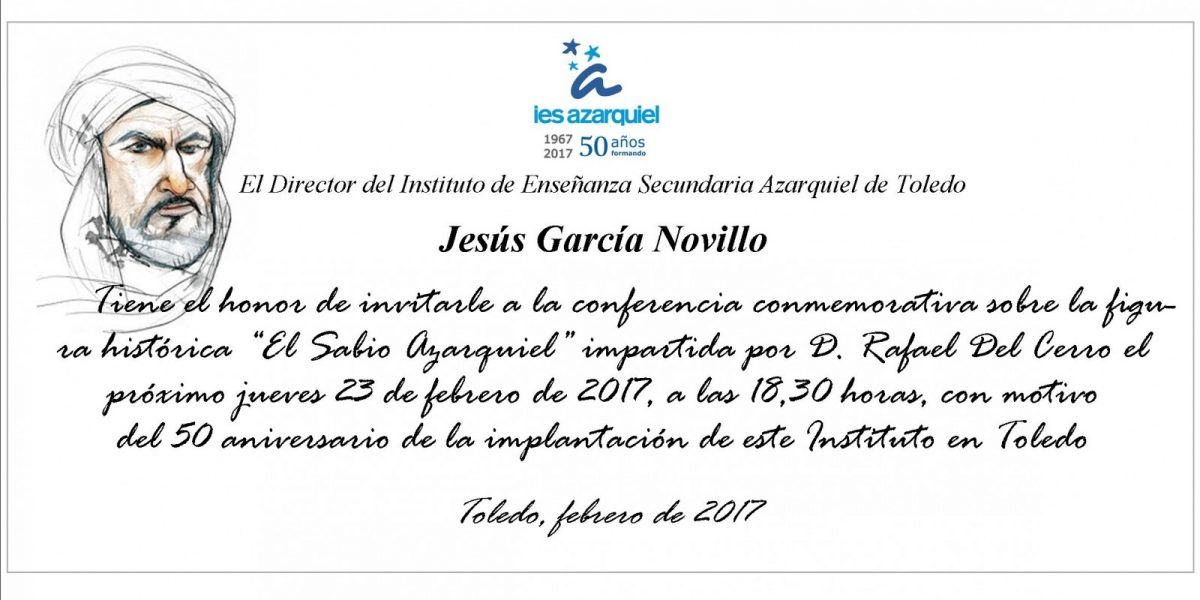 https://www.toledo.es/wp-content/uploads/2017/02/azarquiel-1200x600.jpg. Conferencia conmemorativa