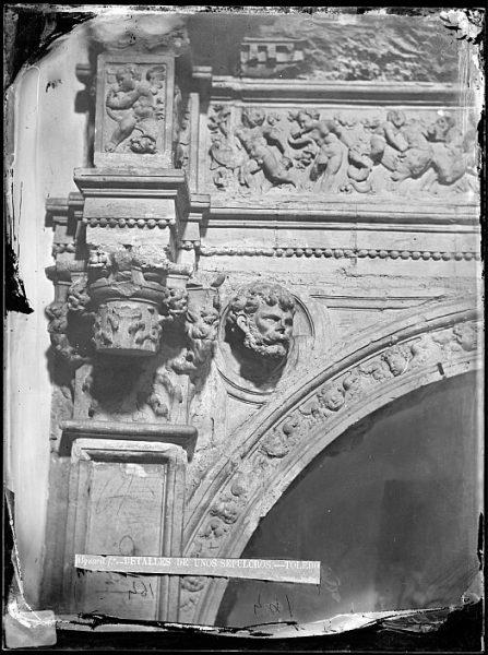 CA-0291-VI_Convento de San Pedro Mártir-Detalle del arco que enmarca el sepulcro del conde de Mélito