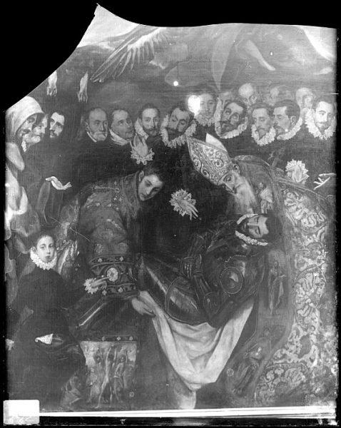 CA-0551-VI_Pintura de Domenico Theotocopuli El Greco-Detalle del Entierro del Conde de Orgaz