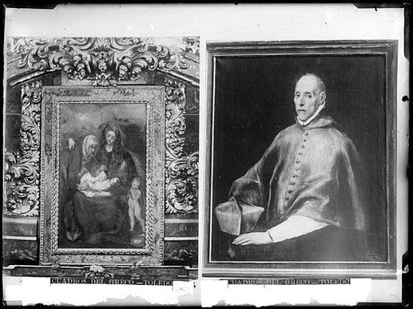 CA-0570-VI_Pinturas de Domenico Theotocopuli El Greco-Cardenal Juan de Tavera y La Sagrada Familia