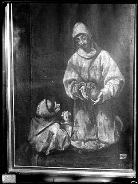 CA-0572-VI_Pintura de Domenico Theotocopuli El Greco-San Francisco y el hermano León meditando sobre la muerte