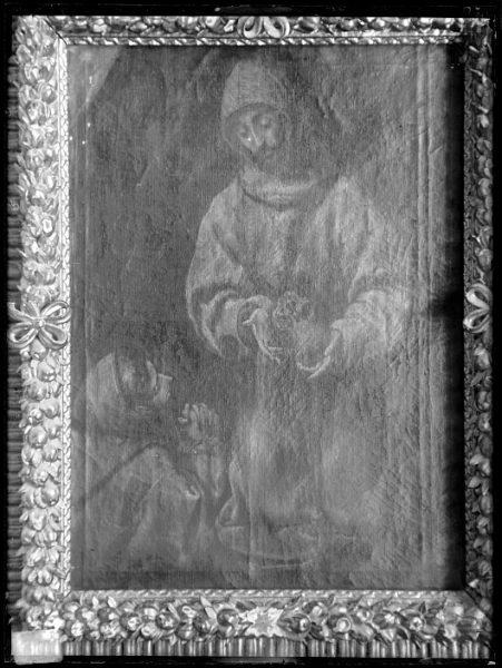 CA-0573-VI_Pintura de Domenico Theotocopuli El Greco-San Francisco y el hermano León meditando sobre la muerte