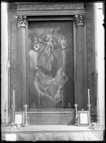 CA-0599-VI_Pintura de Domenico Theotocopuli El Greco-Virgen con el Niño, Santa Martina y Santa Inés