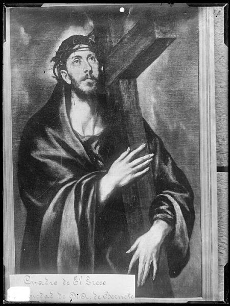 CA-0602-VI_Pintura de Domenico Theotocopuli El Greco-Cristo abrazado a la cruz