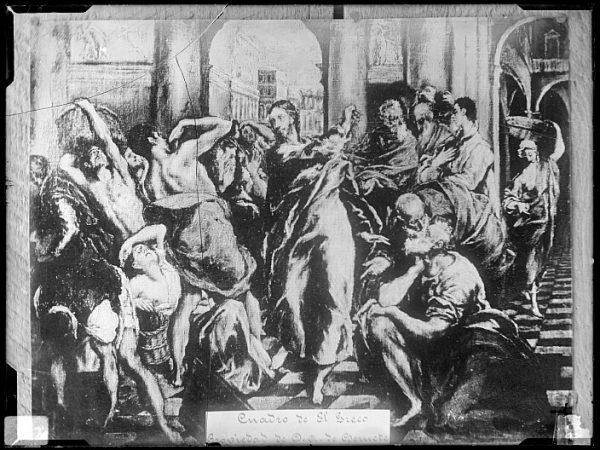 CA-0603-VI_Pintura de Domenico Theotocopuli El Greco-Jesús arroja del templo a los mercaderes