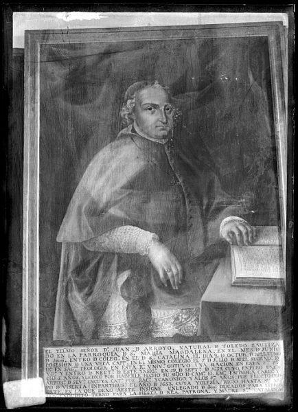 CA-0605-VI_Pintura de la Colección Borbón Lorenzana-Retrato de Juan de Arroyo, rector del colegio de Santa Catalina