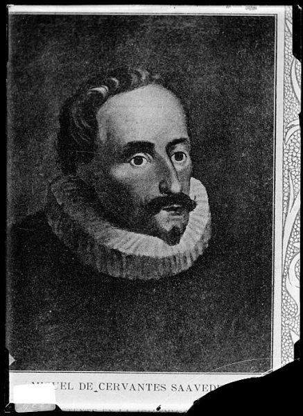 CA-0607-VI_Grabado-Retrato de Miguel de Cervantes