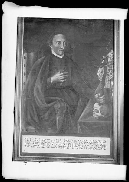 CA-0612-VI_Pintura de la Colección Borbón Lorenzana-Retrato de Alonso Conde Santos, capellán del colegio de Santa Catalina
