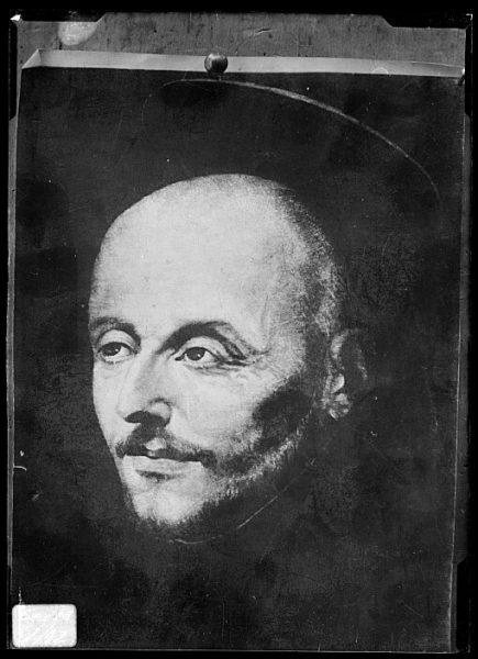 CA-0631-VI_Pintura de la Colección Borbón Lorenzana-Retrato de San Ignacio de Loyola