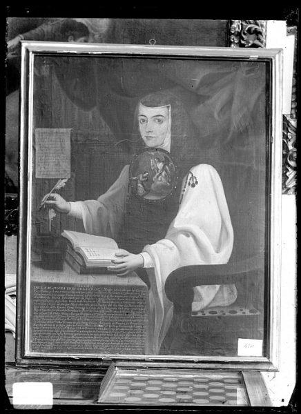 CA-0634-VI_Pintura de la Colección Borbón Lorenzana-Retrato de sor Juana Inés de la Cruz