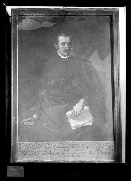 CA-0635-VI_Pintura de la Colección Borbón Lorenzana-Retrato del cronista Tomás Tamayo de Vargas, capellán del colegio de Santa Catalina