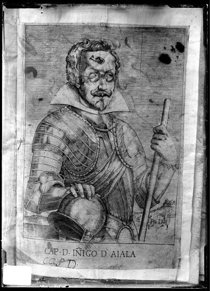 CA-0643-VI_Grabado-Retrato del capitán Iñigo de Ayala