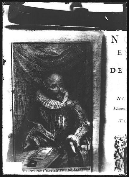 CA-0647-VI_Grabado-Retrato del escritor Miguel de Cervantes