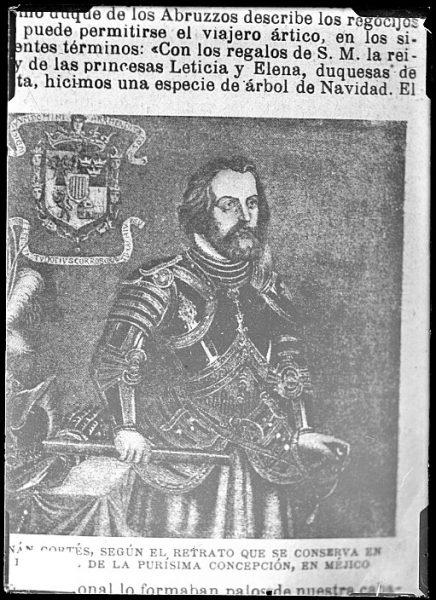 CA-0651-VI_Grabado-Retrato del conquistador Hernán Cortés