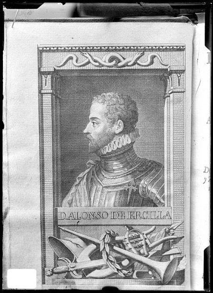 CA-0653-VI_Grabado-Retrato del poeta Alonso de Ercilla