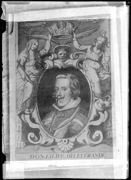 CA-0654-VI_Grabado-Retrato del rey Felipe IV