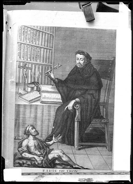 CA-0660-VI_Grabado-Retrato del escritor fray Luis de León