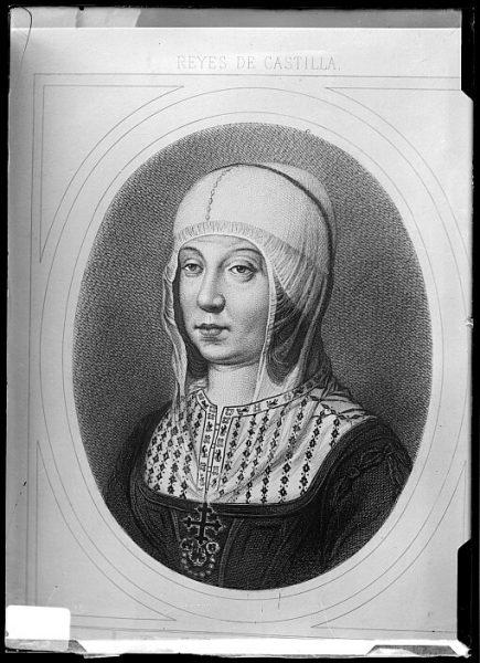 CA-0663-VI_Grabado-Retrato de la reina Isabel la Católica