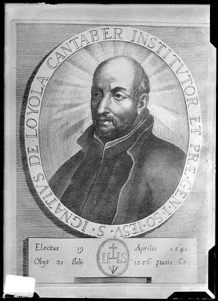 CA-0667-VI_Grabado-Retrato del jesuita San Ignacio de Loyola