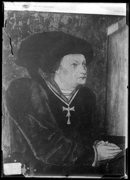 CA-0668-VI_Grabado-Retrato del escritor Iñigo López de Mendoza, Marqués de Santillana