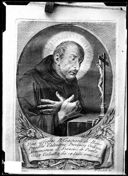 CA-0670-VI_Grabado-Retrato del religioso Gaspar de Bono, de la Orden de los Mínimos