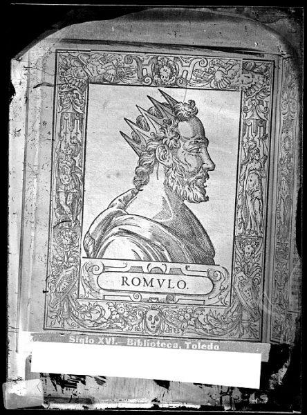 CA-0676-VI_Grabado-Retrato de Rómulo, fundador de Roma