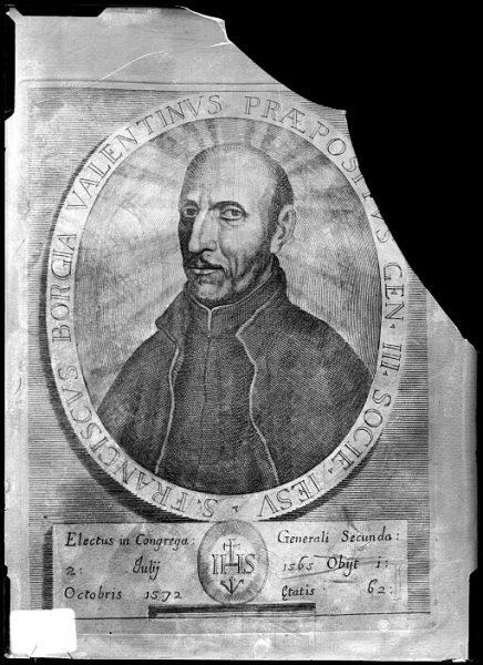 CA-0677-VI_Grabado-Retrato de Francisco de Borja, prepósito general de la Compañía de Jesús