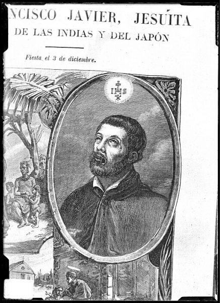 CA-0678-VI_Grabado-Retrato del jesuita San Francisco Javier