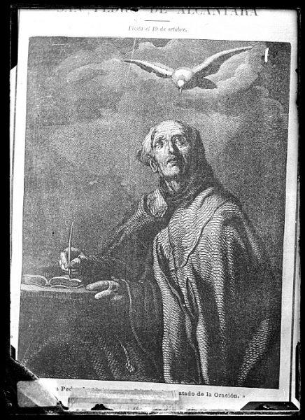 CA-0680-VI_Grabado-Retrato del franciscano San Pedro de Alcántara