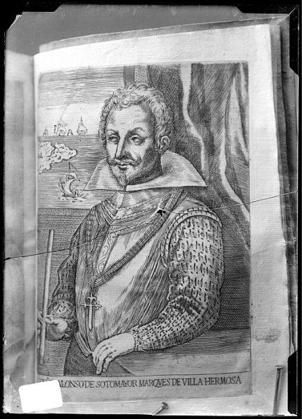 CA-0682-VI_Grabado-Retrato de Alonso de Sotomayor, marqués de Villa Hermosa