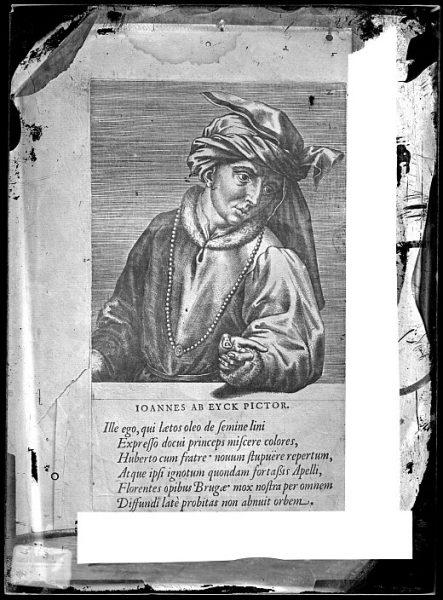 CA-0686-VI_Grabado-Retrato del pintor flamenco Juan Van - Eyck