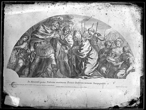 CA-0690-VI_Grabado-Escena mitológica de la vida de Alejandro Magno realizada por Iacobus de Rubeis, en Roma, a finales del siglo XVII
