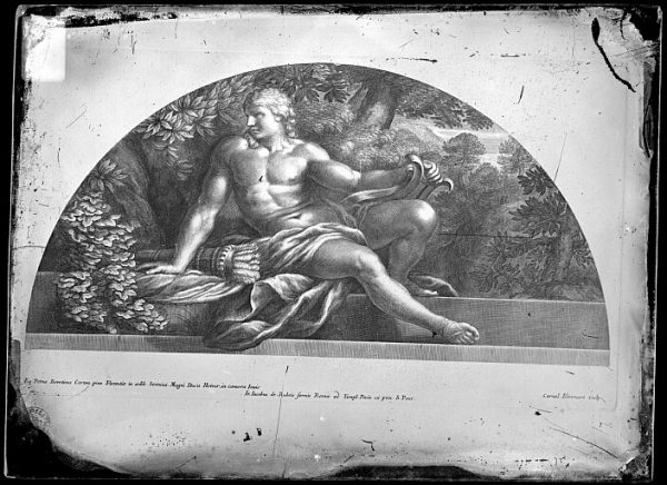 CA-0692-VI_Grabado-Escena mitológica del dios Hermes realizada por Iacobus de Rubeis, en Roma, a finales del siglo XVII