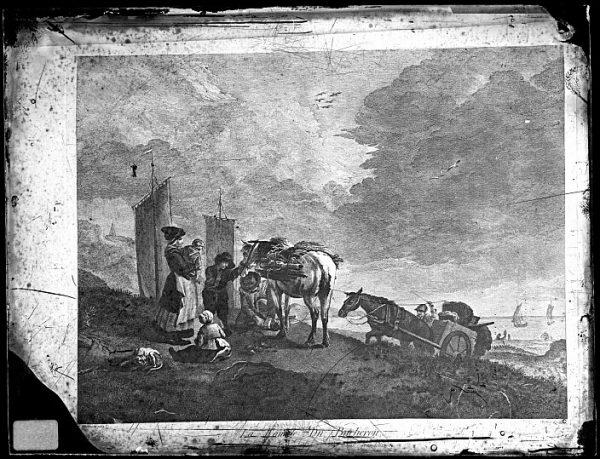 CA-0693-VI_Grabado-Escena titulada La famille du bucheron basada en un cuadro de P Wouvermens y publicada en París a mediados del siglo XVIII