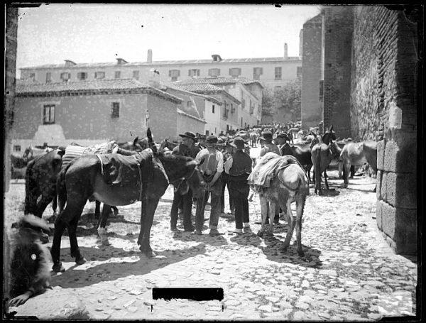 CA-0712-VI_Mercado de ganado en el plaza de la Concepción