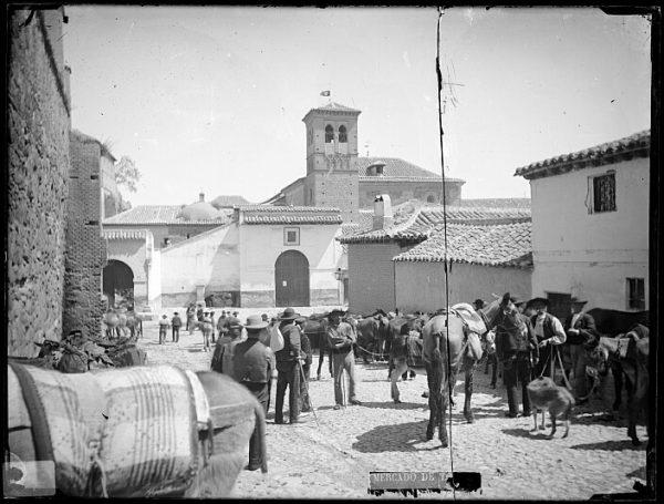 CA-0715-VI_El mercado de ganado en la plaza de la Concepción