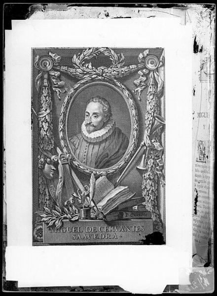 CA-0746-VI_Grabado del Quixote-Retrato de Miguel de Cervantes Saavedra