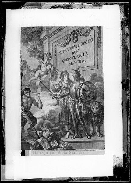 CA-0747-VI_Grabado del Quixote-Escena de la quema de los libros de caballerías