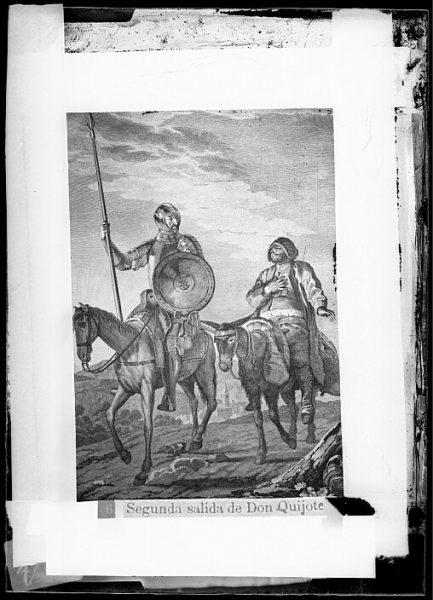 CA-0750-VI_Grabado del Quixote-Escena titulada Segunda salida de Don Quijote