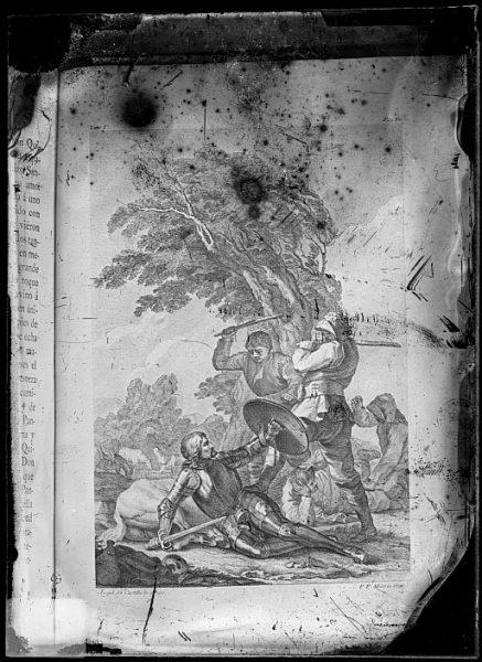 CA-0752-VI_Grabado del Quixote-Escena que ilustra la Aventura de los yang³eses